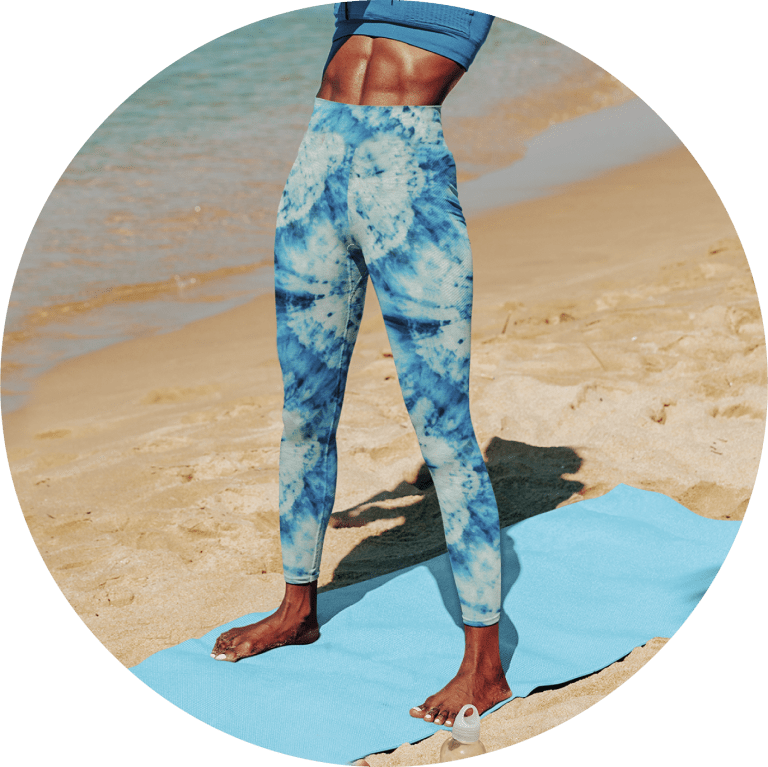 Custom Yoga Pants Tie Dye Yoga Pants