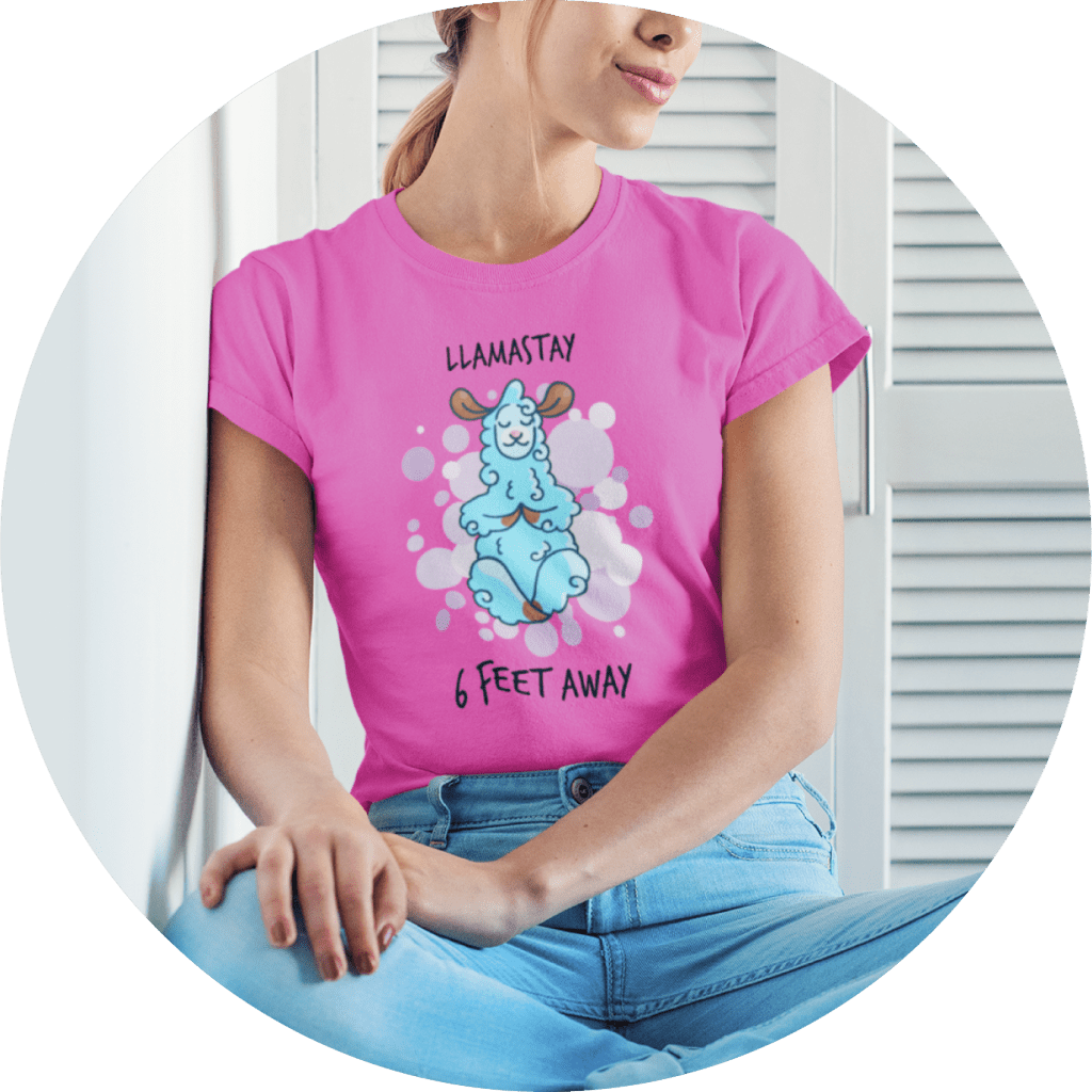 Funny T-shirts Social Distancing