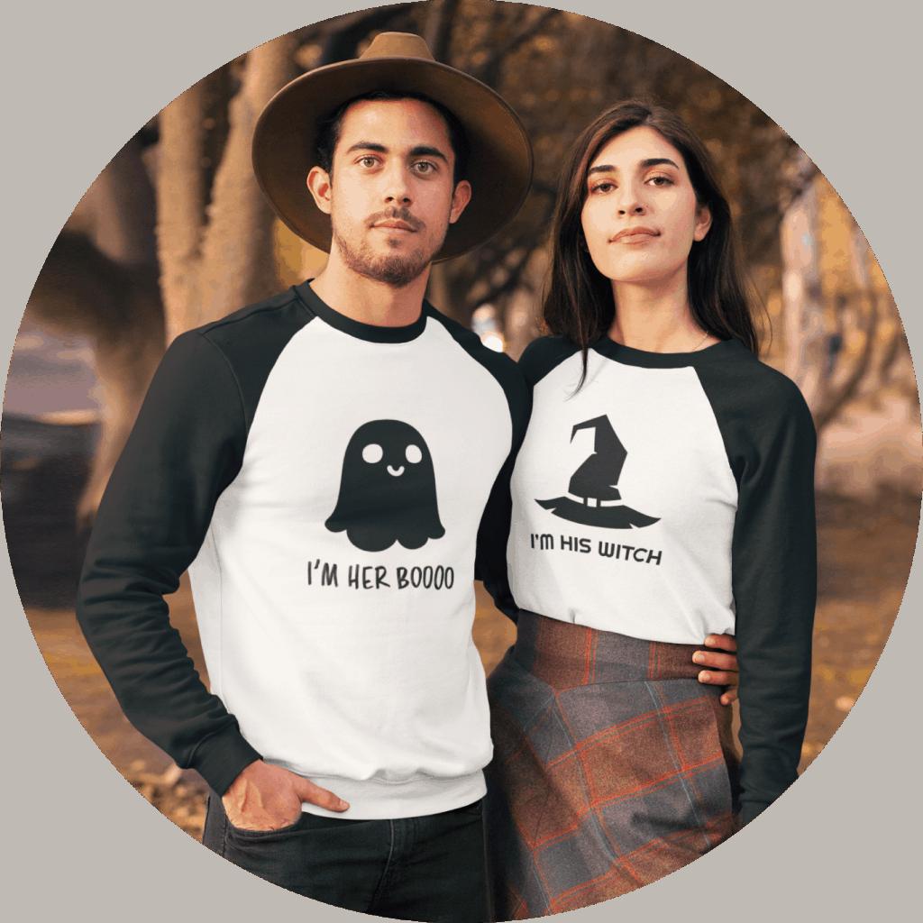 Halloween Couple Tshirt Design