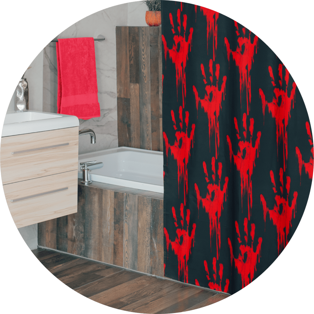 Halloween Horror Shower Curtain Deisgn