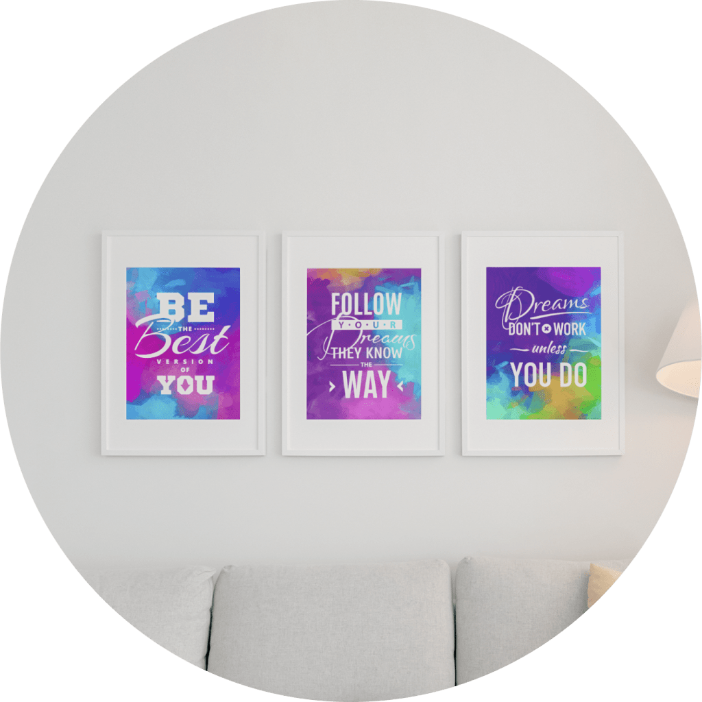 motivational posters three piece set