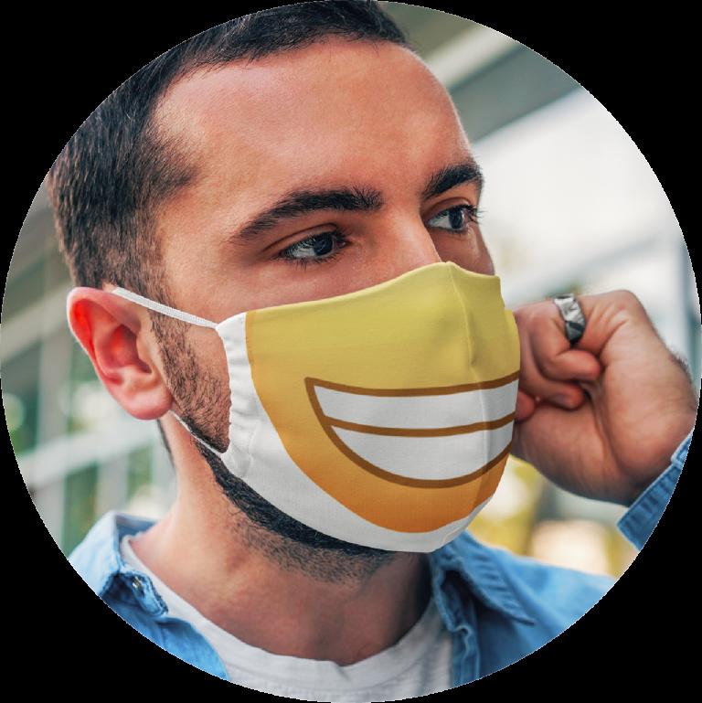Custom Face Mask Emoji Design