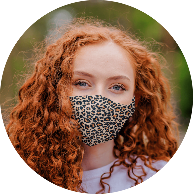 Custom Face Mask With Animal Pattern