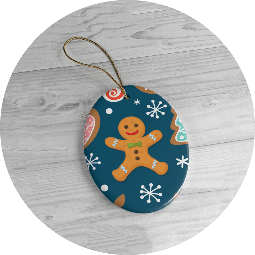 Personalized Christmas Ornaments Gingerbread Designs