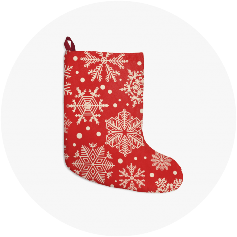 Personalized Christmas Stockings Snowflakes