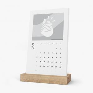 Print Pigeons Vertical Desk Calendar