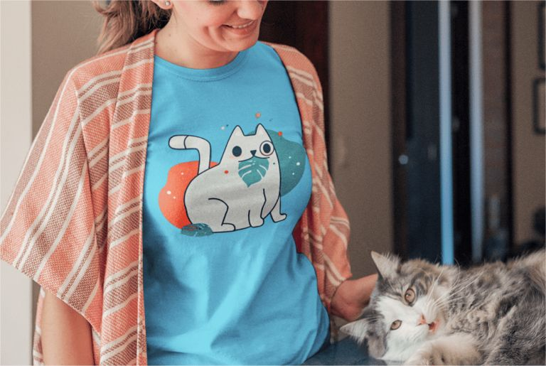 Custom Products Cat T-Shirts Printify