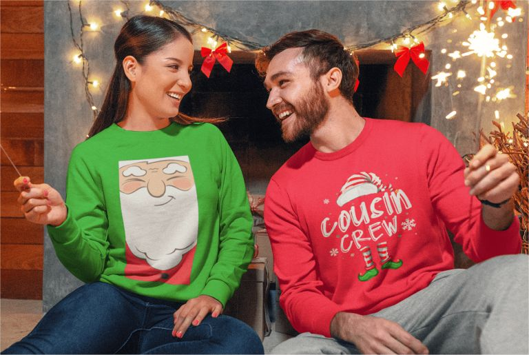 Custom Products Ugly Christmas Sweaters Printify
