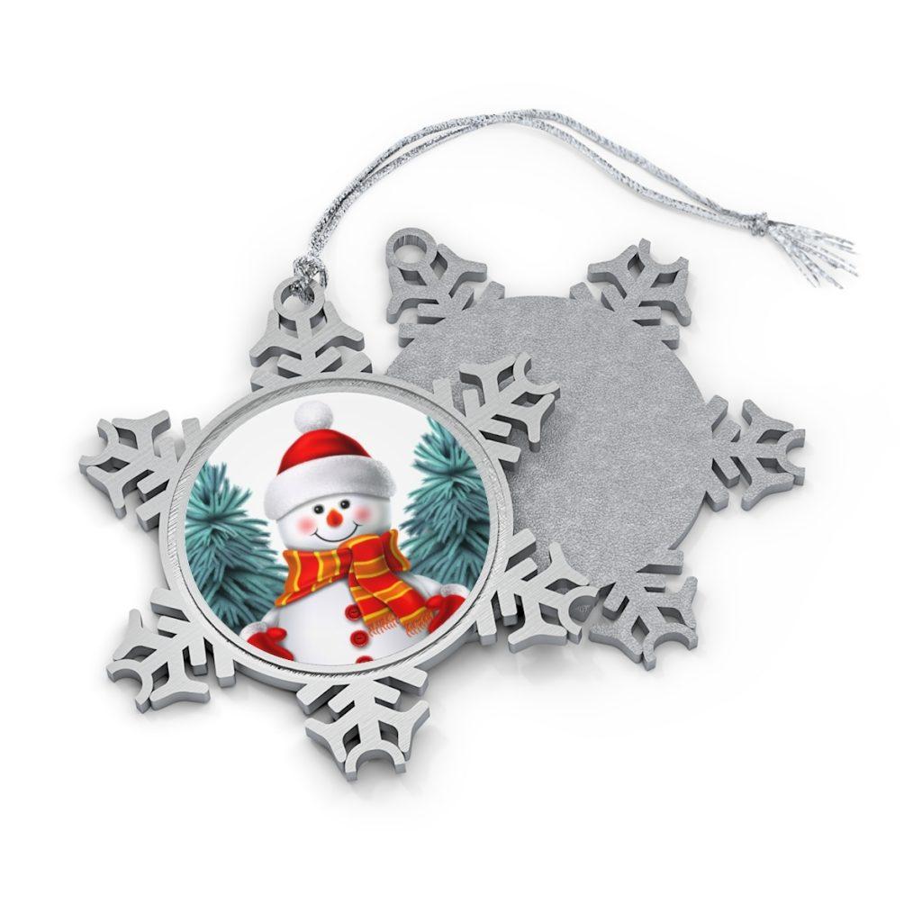 Personalized Christmas Ornaments Snowflake Shape Ornament