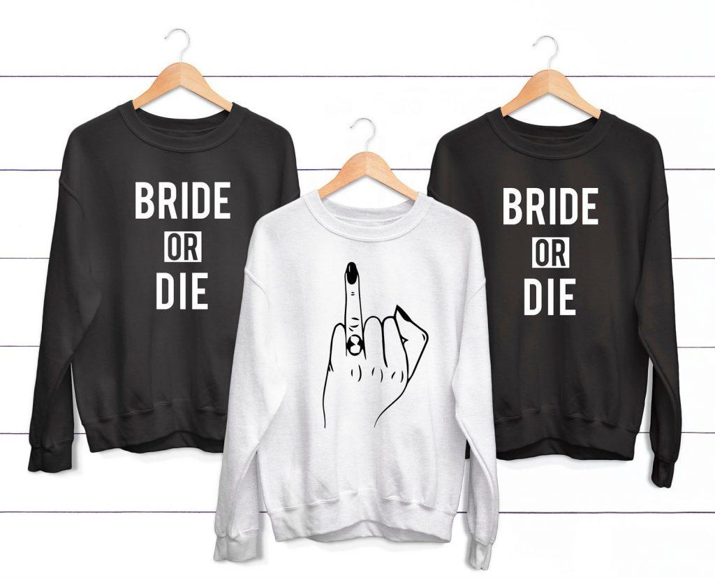 Funny Bachellorette T-shirts Bride Or Die