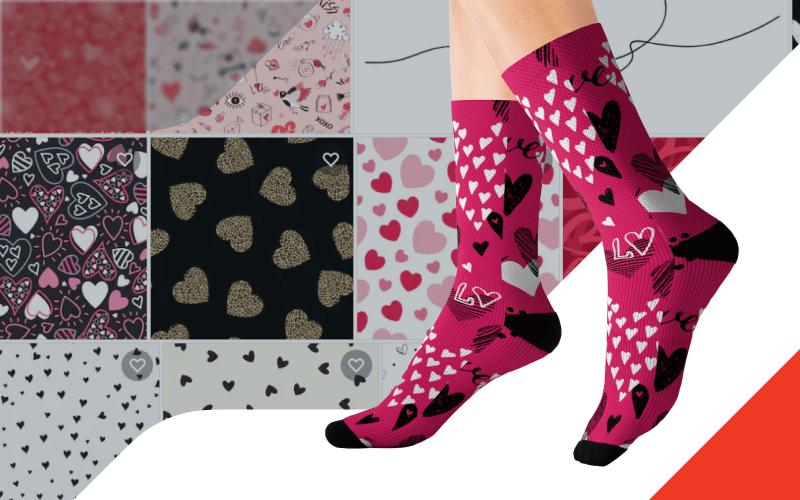 Printify Shutterstock Integration Custom Socks