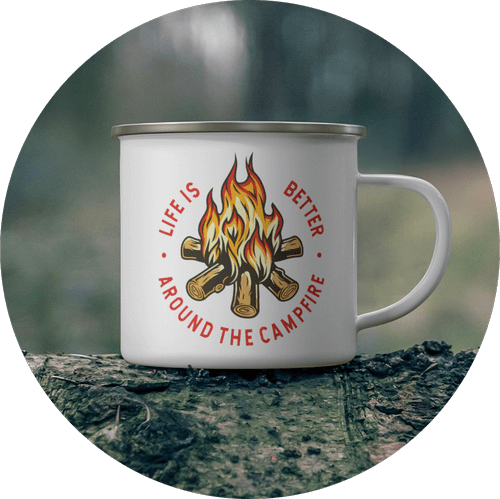 Custom Enamel Mug Outdoors Theme