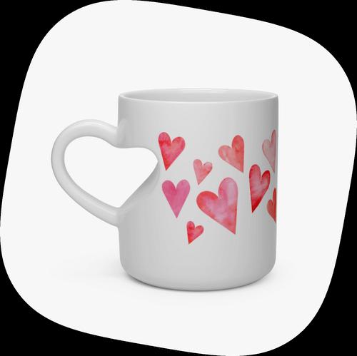 Custom Mugs Heart-shaped Mug