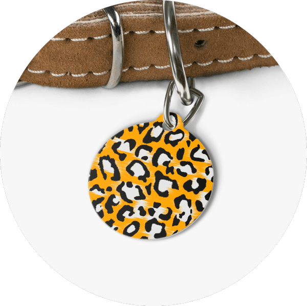 Custom Pet Tags Leopard Design