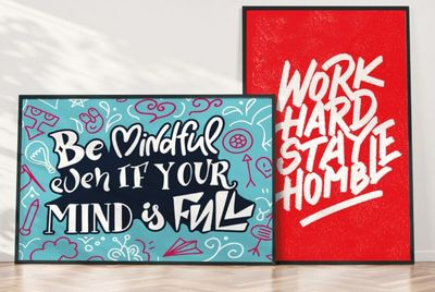 Custom Products Motivational Posters Printify