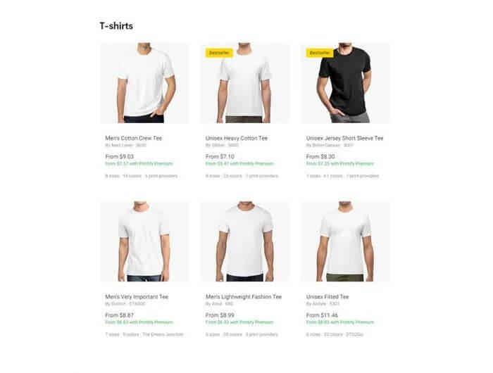 Custom T-shirt Printing Choose Shirt
