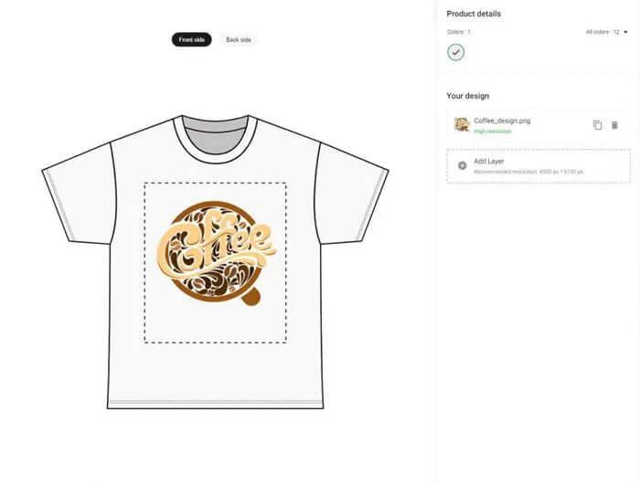 Custom T-shirt Printing Image Quality