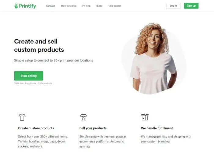 Custom T-shirt Printing Printify Account