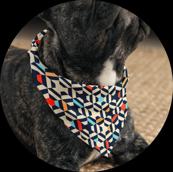 Personalized Custom Dog Bandanas Geometric Pattern