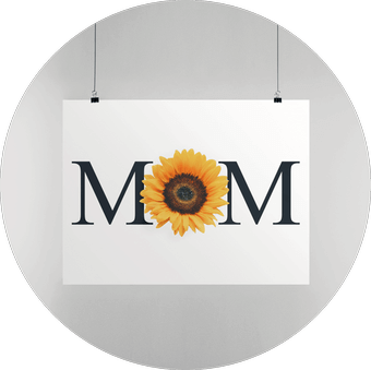 Premium Matte Horizontal Posters Mothers Day Designs