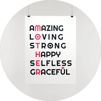 Premium Matte Vertical Posters Mothers Day Designs