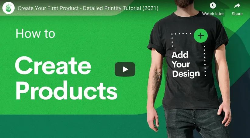 Printify Create Products Print On Demand