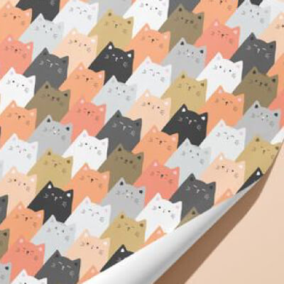 Custom Personalized Gift Wrapping Paper Cats