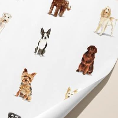 Custom Personalized Gift Wrapping Paper Dogs