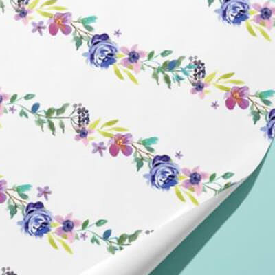 Custom Personalized Gift Wrapping Paper Flowers