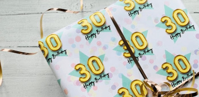 Personalized Gift Wrapping Paper 30 Birthday