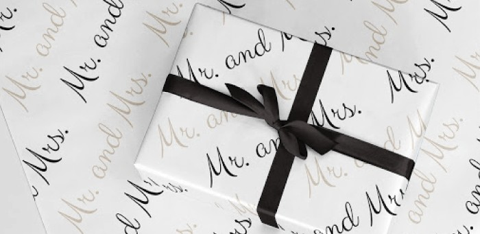 Personalized Gift Wrapping Paper Wedding