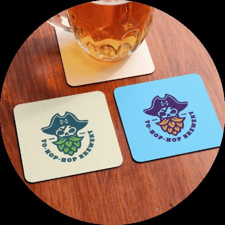 Custom Coasters Branding