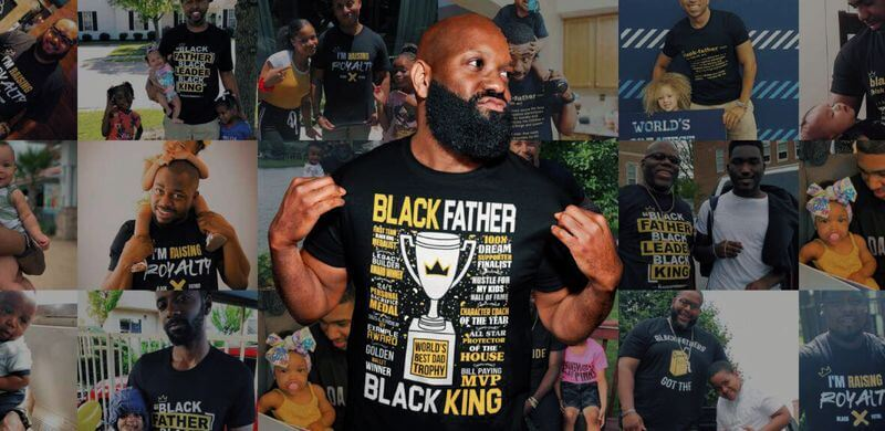 Personalized Father's Day Gift Black Fathers Exist
