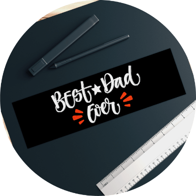Personalized Father's Day Gift Ideas Bumper Sticker