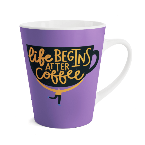 Custom Printed Latte Mug
