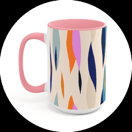Custom Printed Mug Accent Mug
