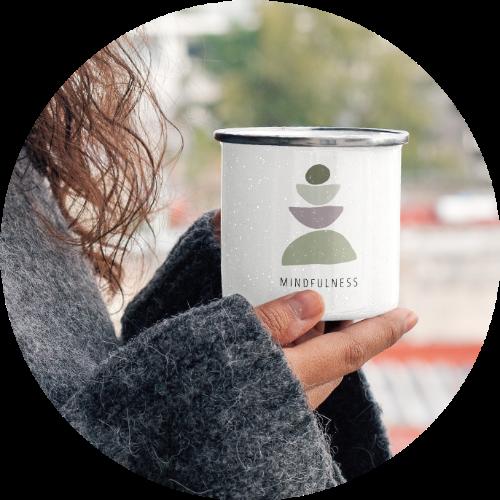 Custom Printed Mug Enamel Coffee Mug
