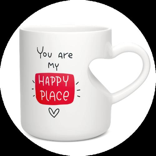 Custom Printed Mug Heart-shaped Mug