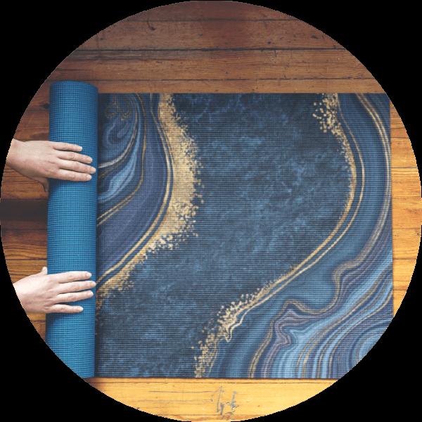 Custom Yoga Mat Art