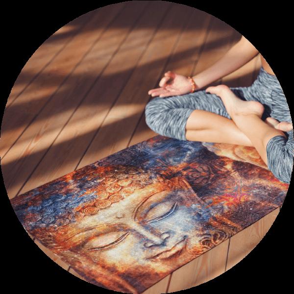 Custom Yoga Mat Buddha