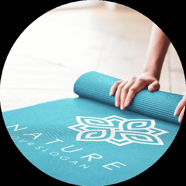 Custom Yoga Mat Logo