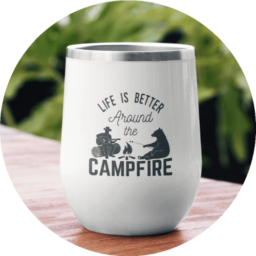 Personalized Wine Tumbler Camping