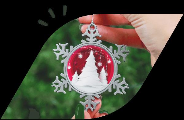 Christmas Photo Ornaments Main Visual