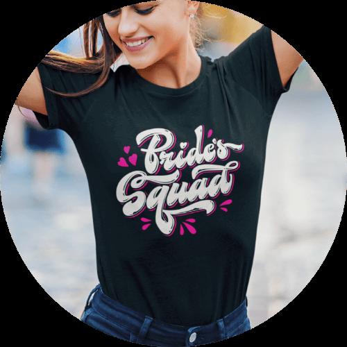 Create eye-catching bachelorette party shirts
