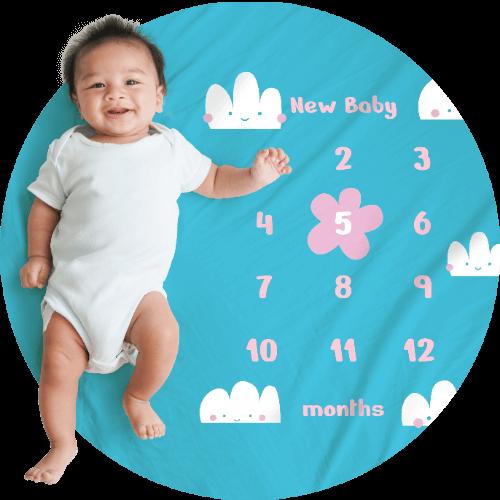 Custom Baby Blankets Milestone