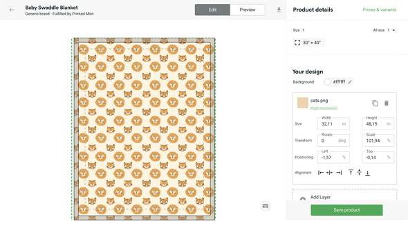 Custom Baby Blankets Mockup