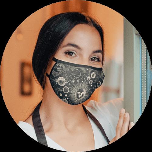 Custom Face Mask Mixed Fabric
