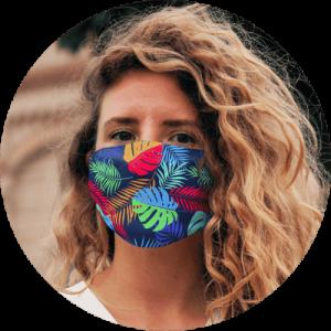 Custom Face Mask Snug Fit Polyester Facemask