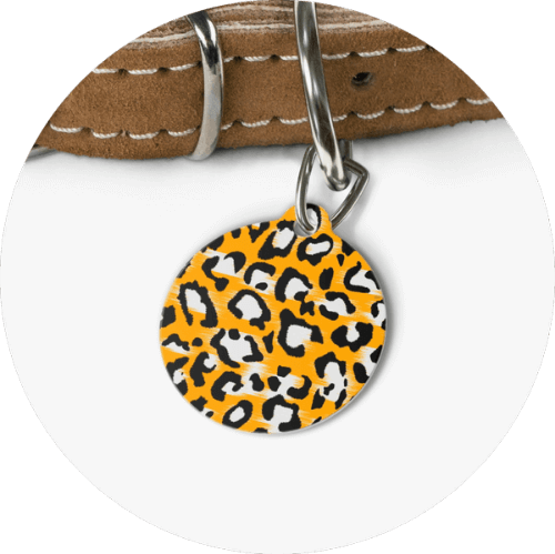 Custom Pet Tags Leopard Design