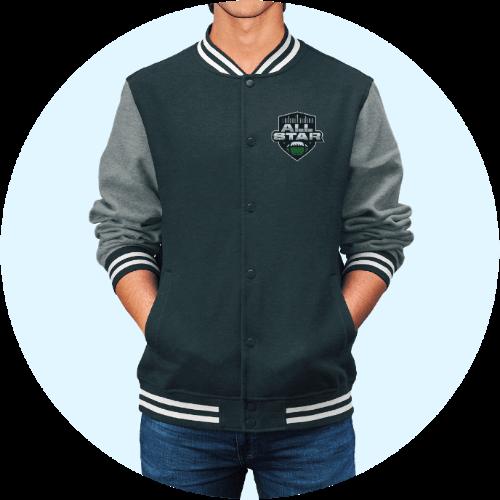 Custom Sportswear Men Versity Jacket Embroidery